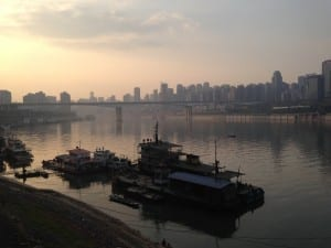 Chingqing from the Jialing River