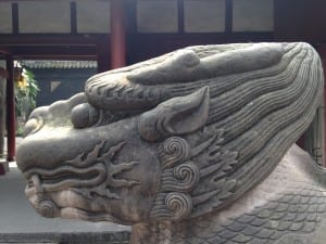 Stone carvings at Wu Hou Temple