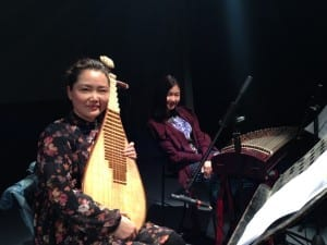 Zhou Yunalin on pipa and Suzy Chan on guzheng at Fanguso Commune